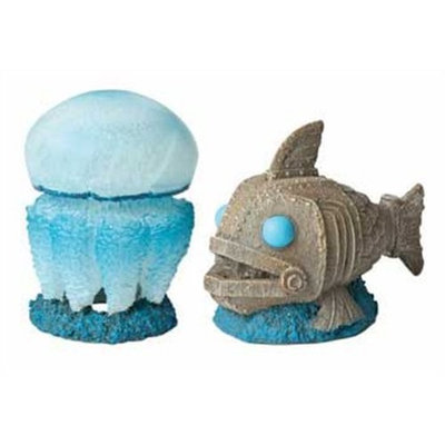 Hydor USA Hydor H2Show Atlantis - Jellyfish and Fish Decoration Combo Pack