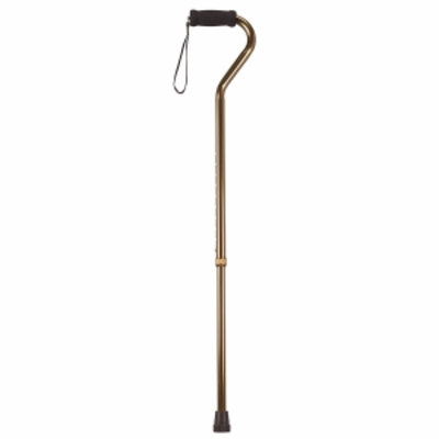 Drive Medical Foam Grip Offset Handle Walking Cane, Bronze, 1 ea