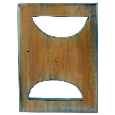 Vision Trims 6038 Handmade Horn Buckle-Rectangle 2-3-4 in. x 2 in.