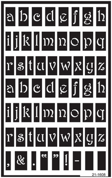 Armour Products Lowercase -Over N Over Stencil