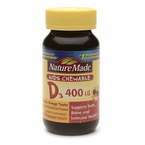 Nature Made Kids Chewable Vitamin D3 400 IU