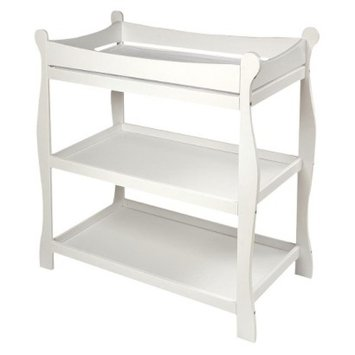 Badger Basket White Finish Sleigh Style Changing Table
