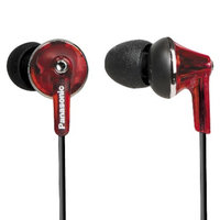Panasonic ErgoFit Plus Long Port Fashion In-Ear Earbuds - Red (RP-