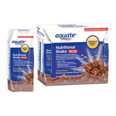 Equate Chocolate Nutritional Shake Plus