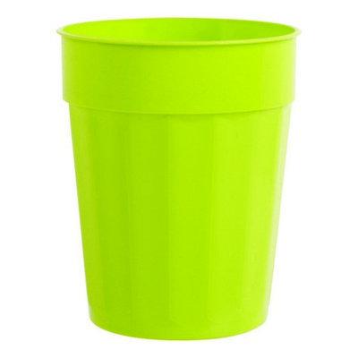 B & R Plastics Inc B & R Plastic Cup Chartreuse Fluted 22 oz. Plastic-Mfg# FC22-48CH - Sold As 96 Units