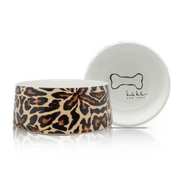 Nicole Miller Leopard Paradise Dog Bowl