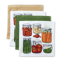 Franco Manufacturing Essential Home 4-Pack Kitchen Dishcloths - Canned Vegetables