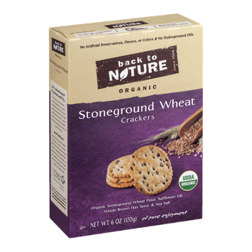 Back to Nature Organic Stoneground Wheat Crackers