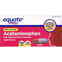 Equate - Pain Reliever, Rapid Release Gels Acetaminophen 500 mg, 24 Gelcaps (Comprate to Tylenol)