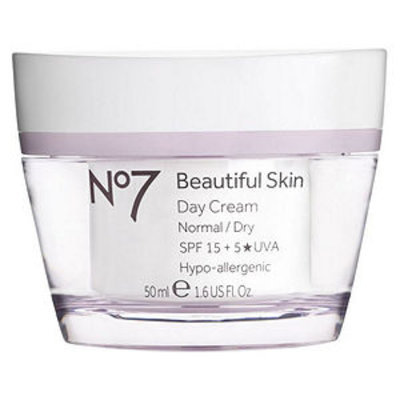 Boots No7 Beautiful Skin Day Cream, Normal / Dry, 1.6 fl oz