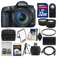 Canon EOS 7D Mark II GPS Digital SLR Camera & EF-S 18-135mm IS STM Lens with 32GB Card + Case + Battery + Tripod + Filter + Tele/Wide Lens Kit