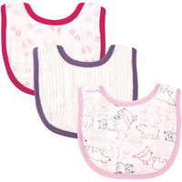 Baby Vision Touched by Nature Organic Muslin Bibs 3 Pack - Girl Woodland