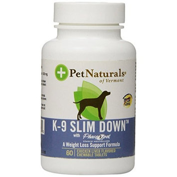 Pet Naturals of Vermont K-9 Slim Down Plus For Dogs 60 Chewable Tablets