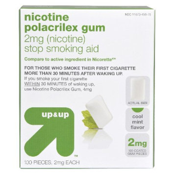 Up & Up Nicotine Polacrilex 2-mg. Gum - Cool Mint (100-pk.)