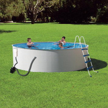 Blue Wave PRESTO 24-FT ROUND 52-IN DEEP METAL WALL SWIMMING