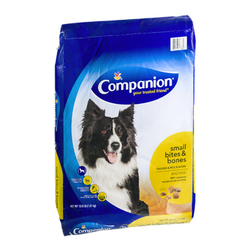 Companion Small Bites & Bones Dog Food Chicken & Rice Flavors