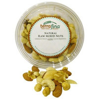 Terrafina Natural Raw Mixed Nuts, 9-Ounce Containers (Pack of 12)