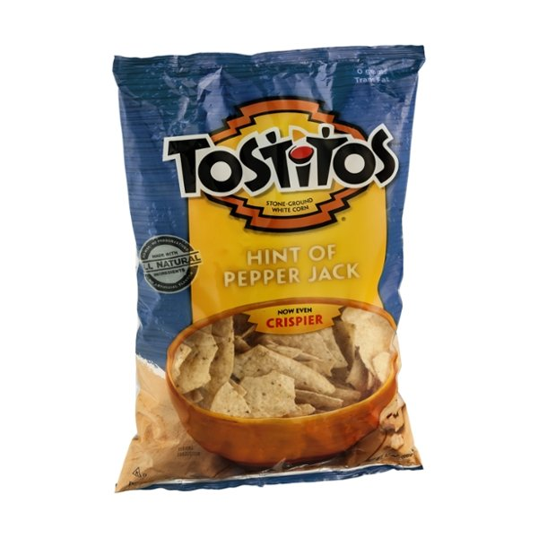 Tostitos Tortilla Chips Stone-Ground White Corn Hint of Pepper Jack