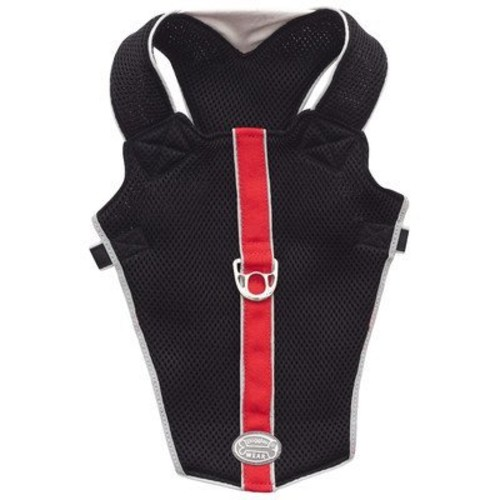 Doggles Dog Wear Reflective Mesh Vest Harness in Red and Black Size-See Chart Below: XXS