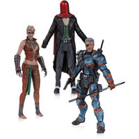 DC Comics Arkham Origins 3-Pack Action Figure Set, Deathstroke, Joke and Copperhead
