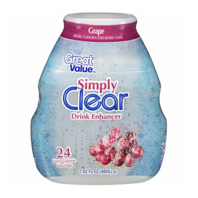 Great Value Simply Clear Grape Liquid Drink Enhancer