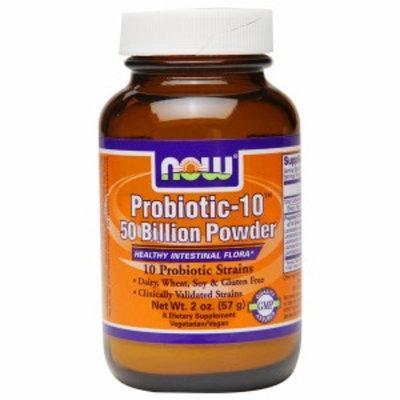 NOW Foods Probiotic-10 50 Billion Powder, 2 oz