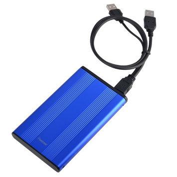 "Insten POTHSATA2507 2.5"" USB 2.0 Version 2 SATA HDD Enclosure, Blue"