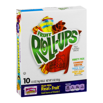 Fruit Roll-Ups Fruit Flavored Snacks Variety Pack - 10 CT