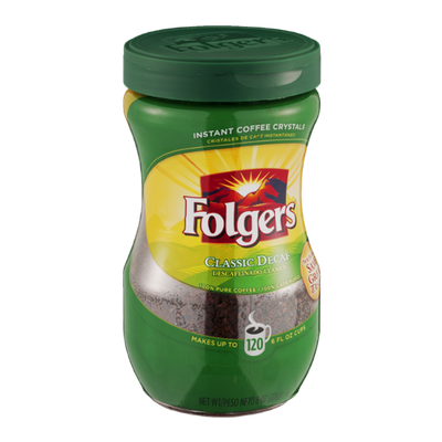Folgers Classic Decaf Instant Coffee Makes up to 120  6 FL OZ Cups