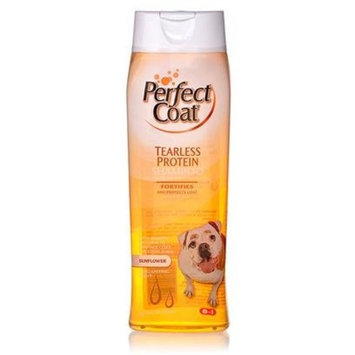 8In1 Pet Products Perfect Coat Tearless Protein Shampoo for Dogs, 32-Ounce, Sun