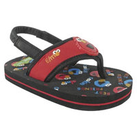 Sesame Street Toddler Boy's Elmo Flip Flop Sandals - Red 4