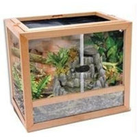 Penn-plax Penn Plax Natural Wood And Glass Terrarium - Assembled Size: Small