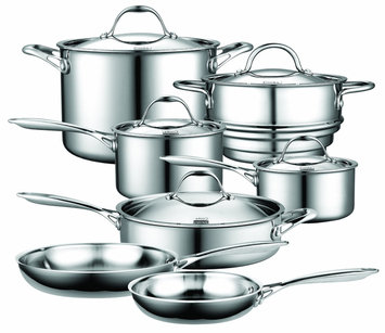 Cooks Standard Stainless Steel 12-Piece Cookware Set