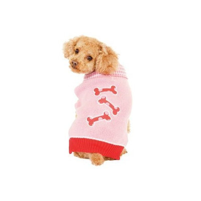 Fashion Pet Pink Bonz Dog Sweater Extra Small
