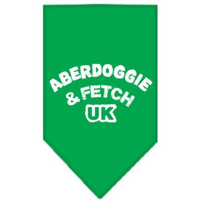 Mirage Pet Products 6602 SMEG Aberdoggie UK Screen Print Bandana Emerald Green Small