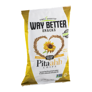 Simply Sprouted Way Better Snacks Pita-ahh Chips Pinch of Sea Salt