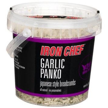 IRON CHEF Garlic Flavored Panko, Certified Kosher, 6-Ounce Buckets (Pack of 3)