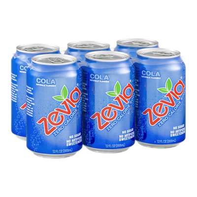 Zevia Zero Calorie Soda Cola - 6 CT