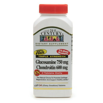 21st Century Glucosamine 750mg Chondroitin 600mg