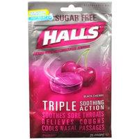 HALLS Sugar Free Black Cherry Cough Menthol Drops