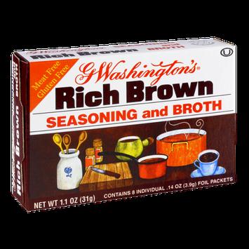 G Washington's Rich Brown Seasoning and Broth