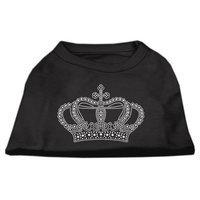 Mirage Pet Products 5223 XSBK Rhinestone Crown Shirts Black XS 8