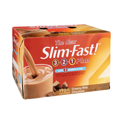 Slim Fast! 3-2-1 Plan Creamy Milk Chocolate Shakes