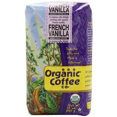 The Organic Coffee Company The Organic Coffee Co. Whole Bean, French Vanilla, 12 Ounce (Pack of 3)
