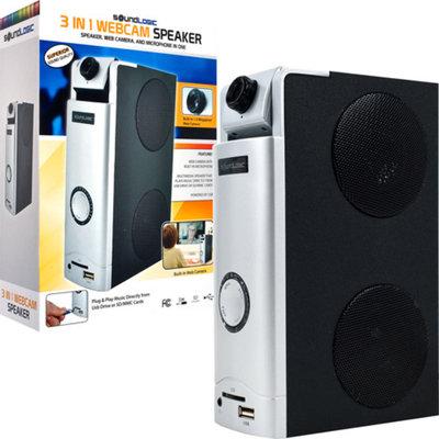 Sound Logic 3-in-1 Webcam Desktop Speaker