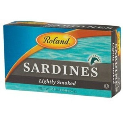 Roland Lightly Smoked Sardines, 4.38-Ounce Cans (Pack of 50)