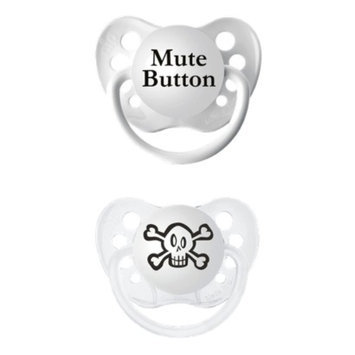 ulubulu 2pk Pacifiers Skull/Mute Button