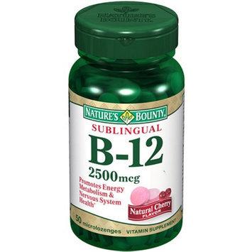 Nature's Bounty Natural B-12 Sublingual Vitamin 2500mcg