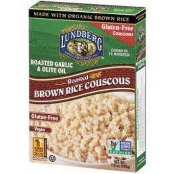 LUNDBERG Gluten Free - Roasted Brown Rice Couscous Roasted Garlic & Olive Oil, Vegan At least 70% Organic