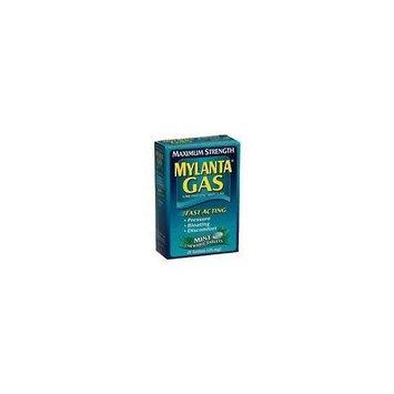 Mylanta Gas Simethicone Anti-Gas, Maximum Strength, Chewable Mint, 24 Count